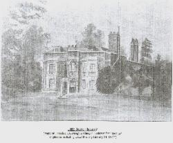 Drawing of Little Boston House