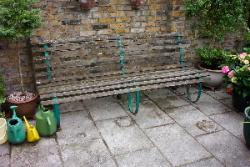 The garden bench from Little Boston House